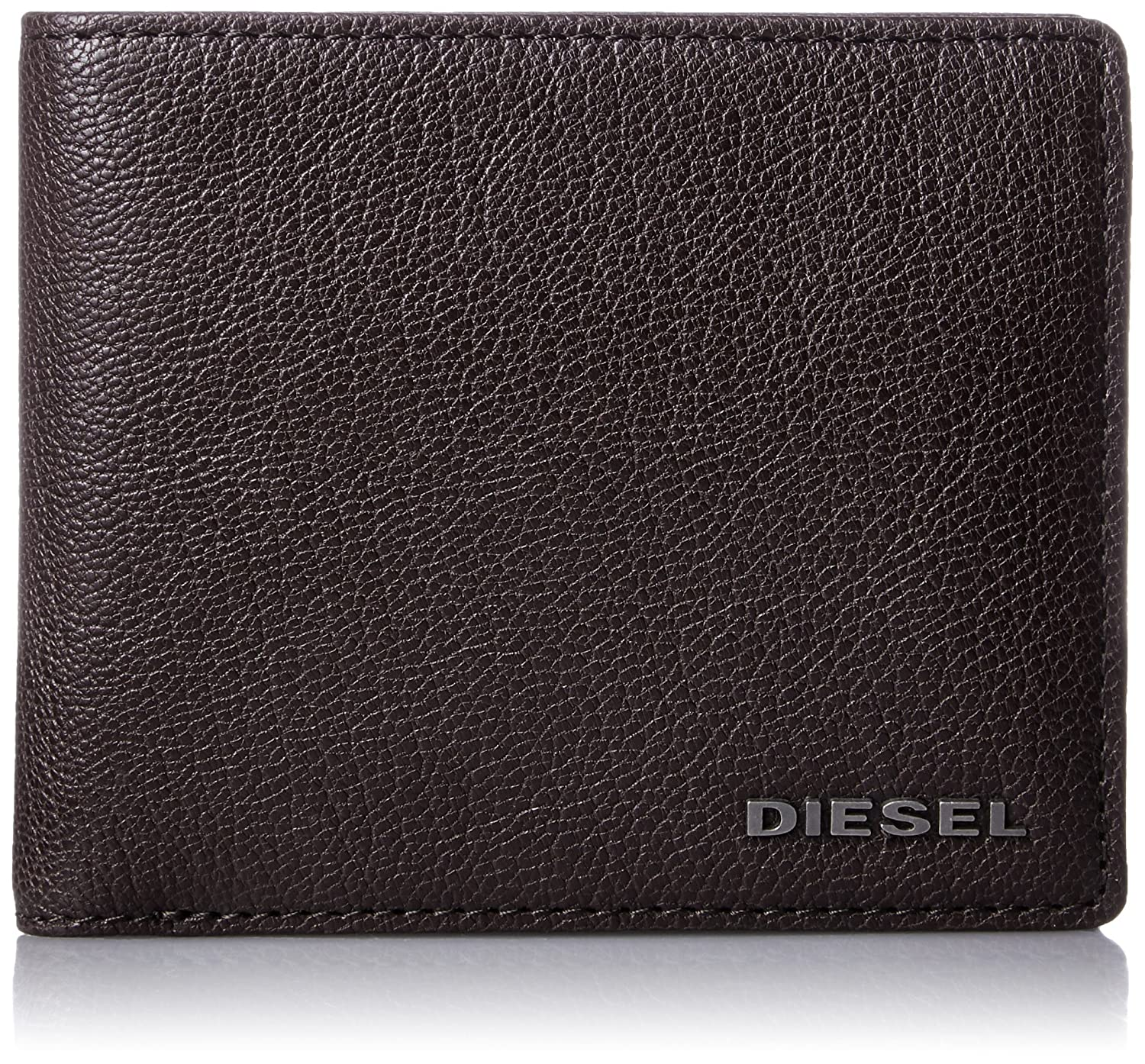 Brown Diesel New Hiresh Small Leather Coin-Pocket Mens Wallet