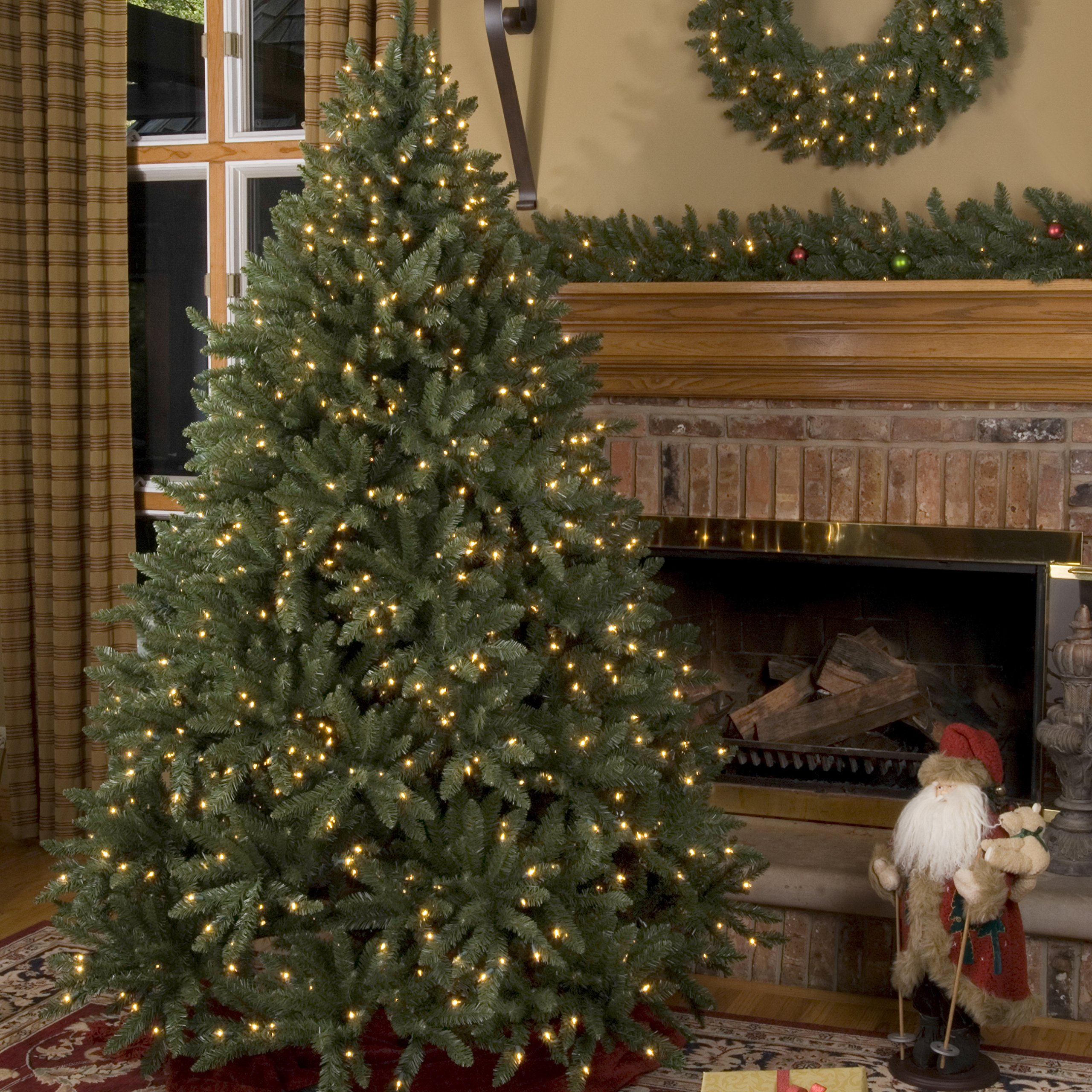 Douglas Fir Prelit Christmas Tree Artificial Christmas Tree, Full (200 Clear Lights, 4.5')