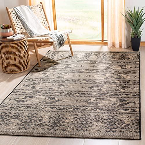 Safavieh Palazzo Collection PAL125-56C2 Black and Beige Area Rug 4 x 6