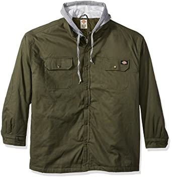 e4fbffa987 Amazon.com  Dickies Men s Canvas Shirt Jacket with Quilted Lining  Work  Utility Outerwear  Clothing