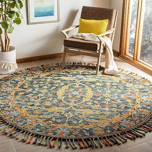 Safavieh Aspen Collection APN116X Handmade Boho Braided Tassel Wool Area Rug