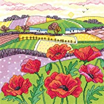 HERITAGE CRAFTS DAISY LANDSCAPE COUNTED CROSS STITCH KIT BY KAREN CARTER NEW