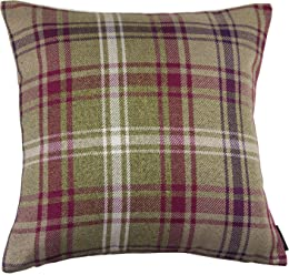 """McAlister Angus Farmhouse Plaid 18"""" Decor Pillow Cover 