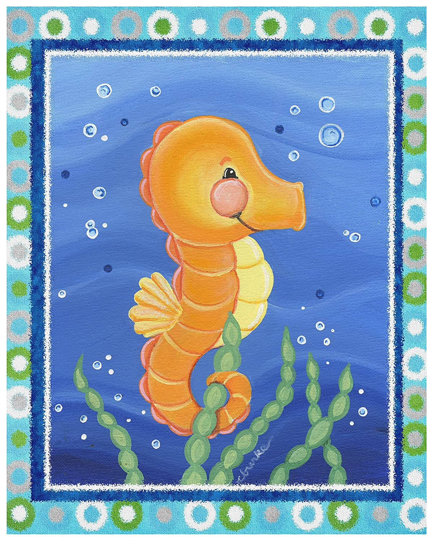 amazon com sea life ocean animal nursery art prints 8x10