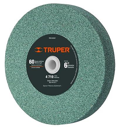 "052054390851 Truper PIES-6160, Piedra para esmeril, óxido de aluminio 6"", grano"