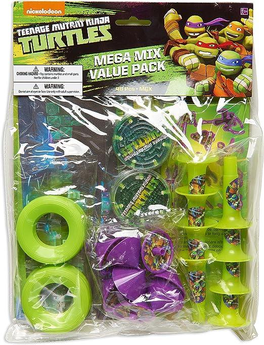American Greetings Teenage Mutant Ninja Turtles (TMNT) Party Supplies, Party Favor Value Pack (48-Count)
