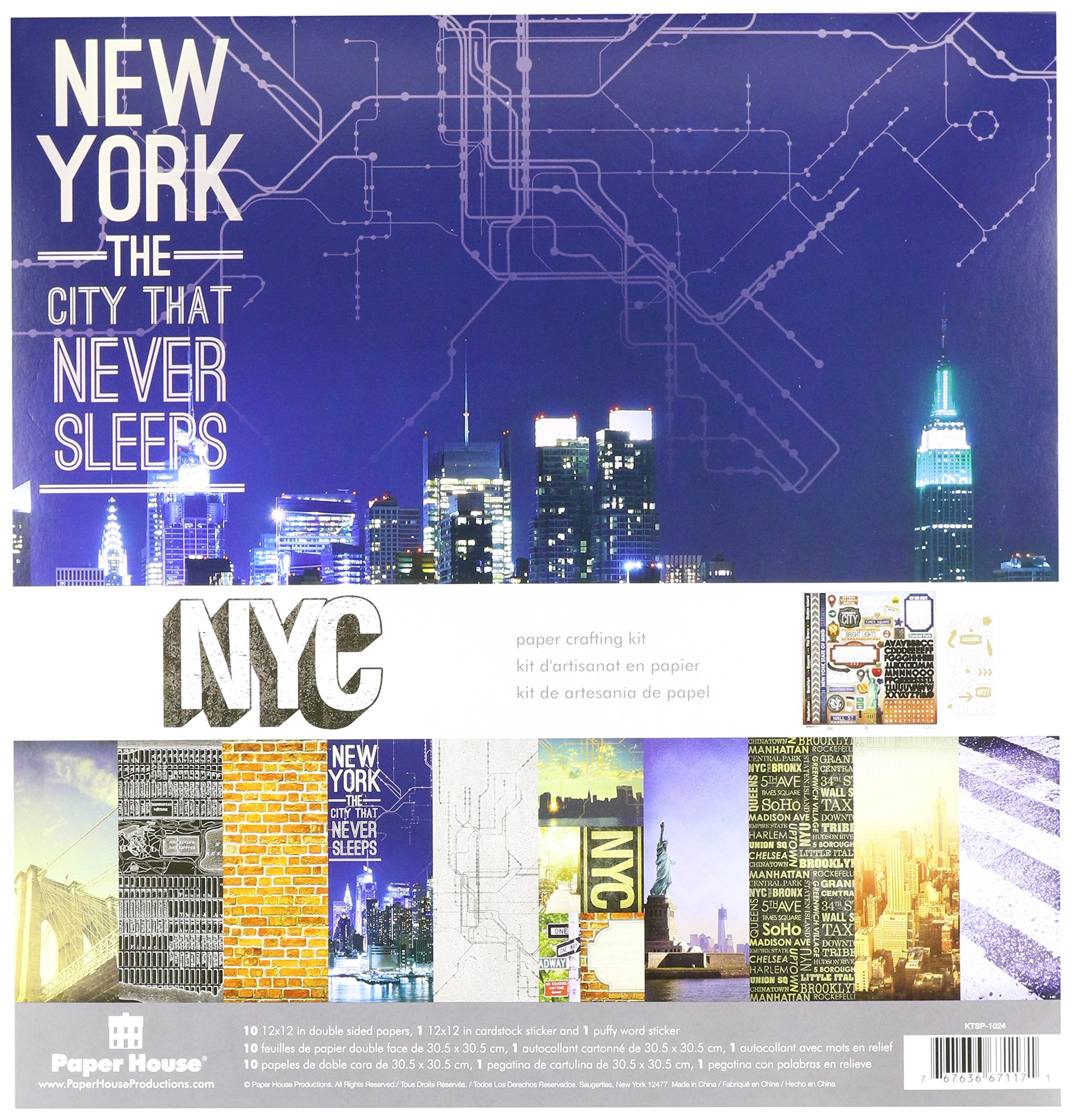 Paper House Paper Crafting Kit 12''X12'', New York City