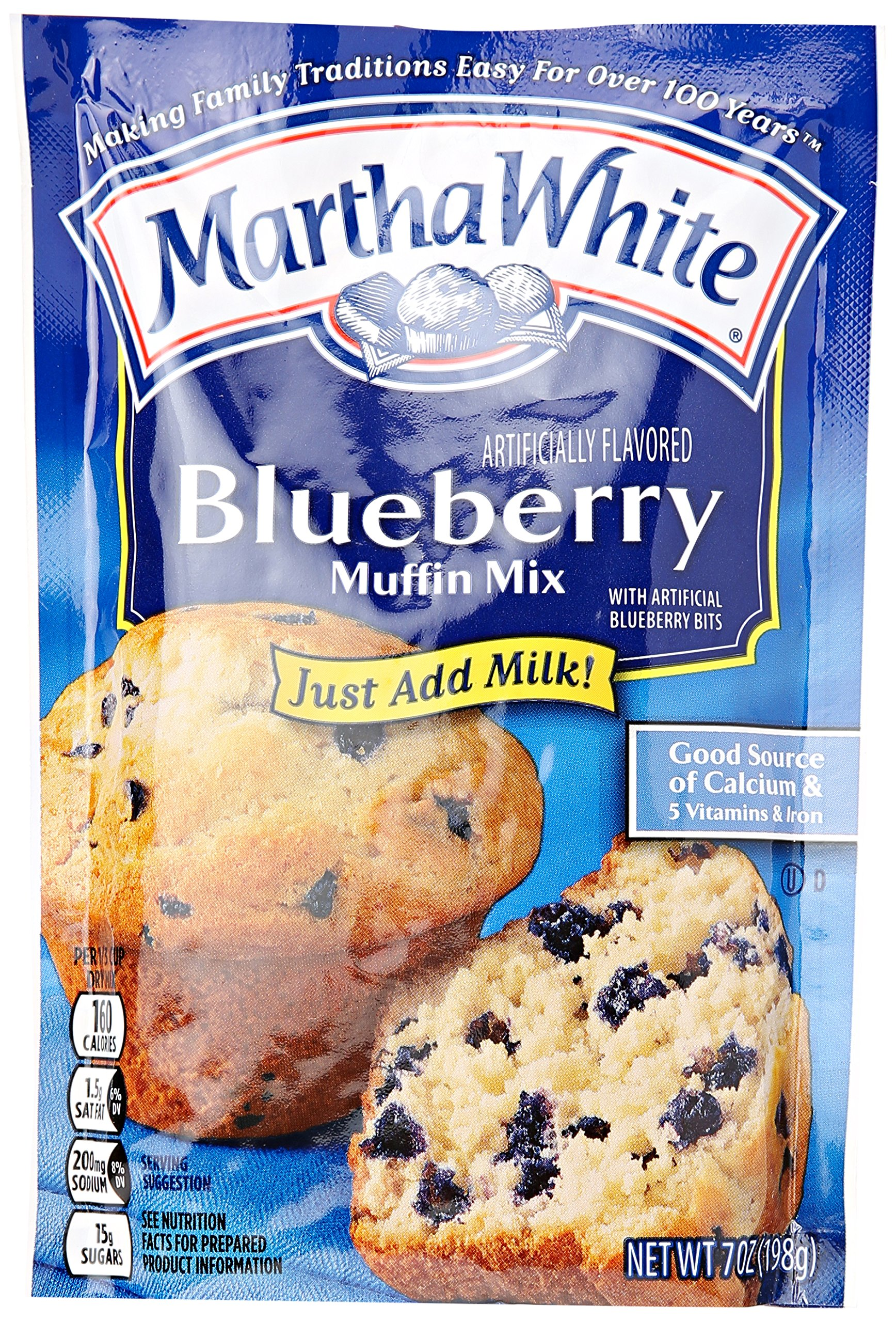 Smuckers Martha White Muffin Mix, Blueberry, 7 oz