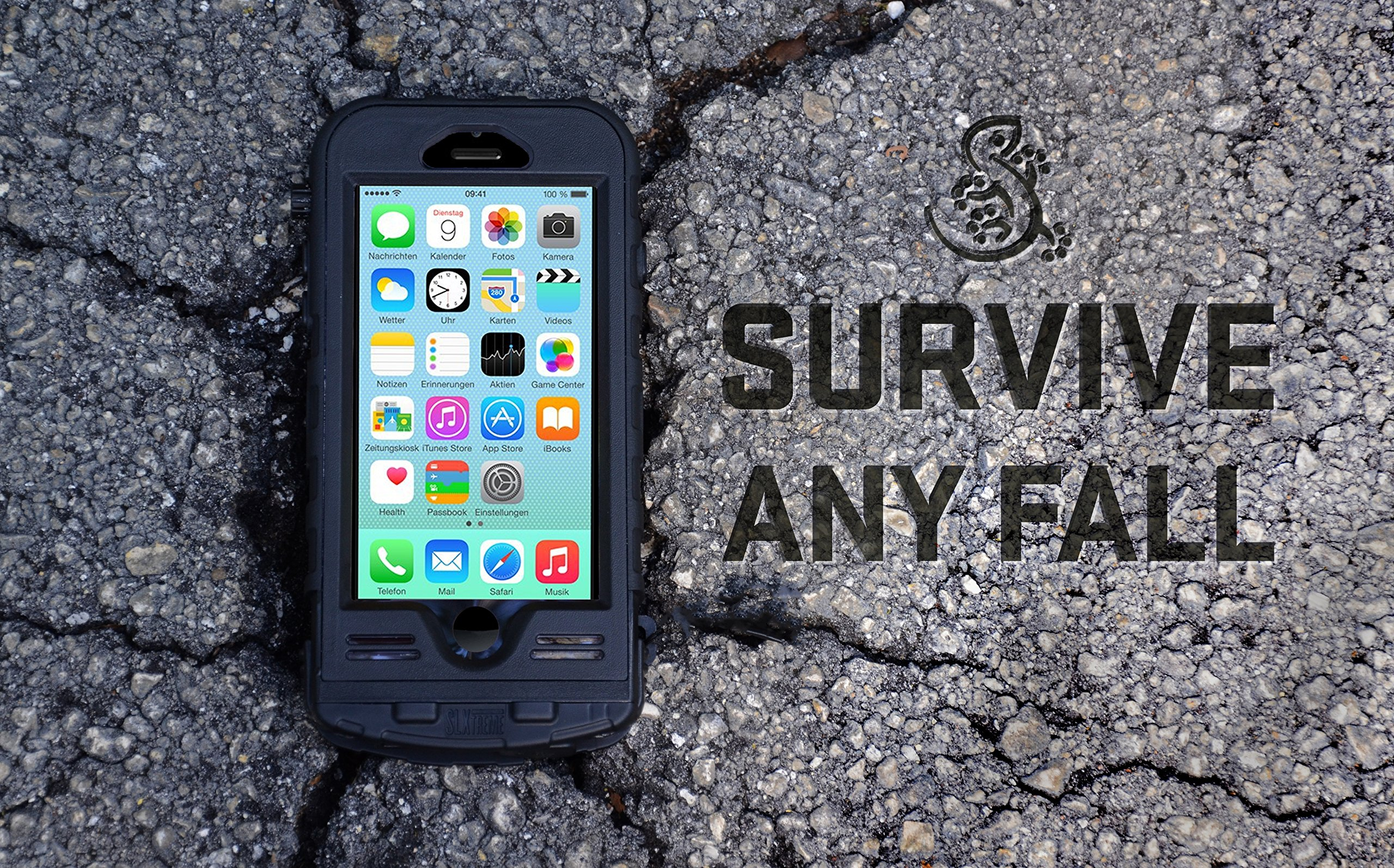 SnowLizard SLXtreme iPhone 8 Case. Solar Powered, Rugged and Waterproof with a built in Battery - Mossy Oak by Snow Lizard Products (Image #5)