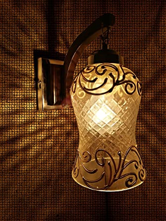 Weldecor Wooden And Glass Wall Lamp Wall Hanging Lamp Shade