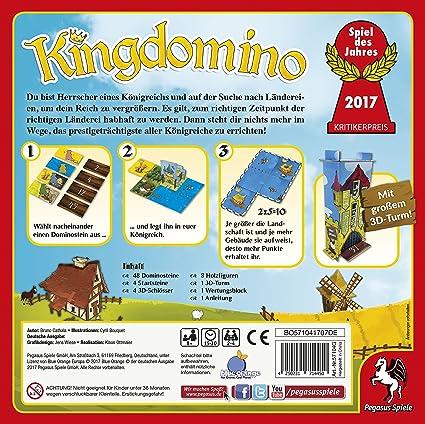 Pegasus Kingdomino, Brettspiel Estrategia - Juego de tablero (Brettspiel, Estrategia, 15 min, 30 min, 8 año(s), Alemán, Multicolor) , color/modelo surtido: Amazon.es: Juguetes y juegos
