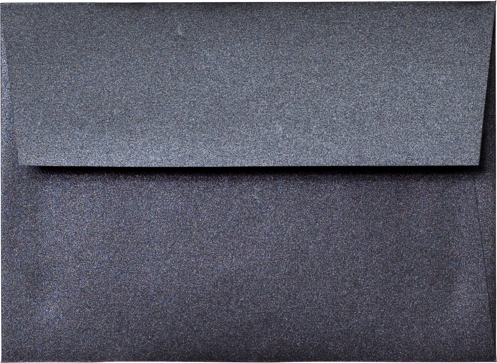 A-7 Envelope - Onyx Black Shimmery Metallic Envelope (5.25 x 7.25) - 50 Envelopes from Paper and More