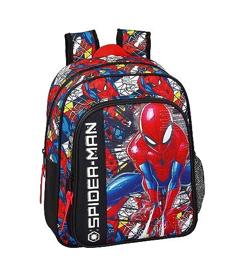 """Spiderman """"Super Hero"""" Oficial Mochila Escolar Infantil 270x100x330mm"""