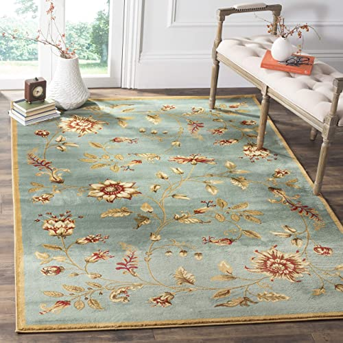 Safavieh Lyndhurst Collection LNH552-6591 Traditional Floral Blue and Multi Area Rug 8 9 x 12