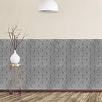 Relaxdays Wandpanelen zelfklevend, set van 5, decoratieve steenlook, 3D-panelen, zacht PE-schuim, 78 x 70 cm, grijs…