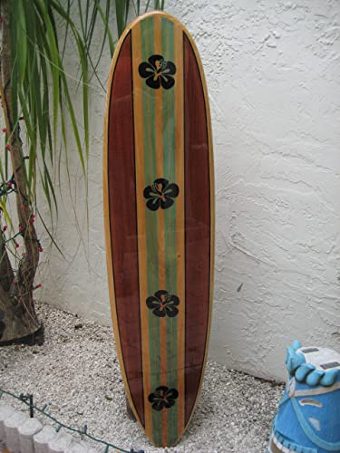 Amazon Com Solid Wood Wall Hanging Decorative Surfboard For A