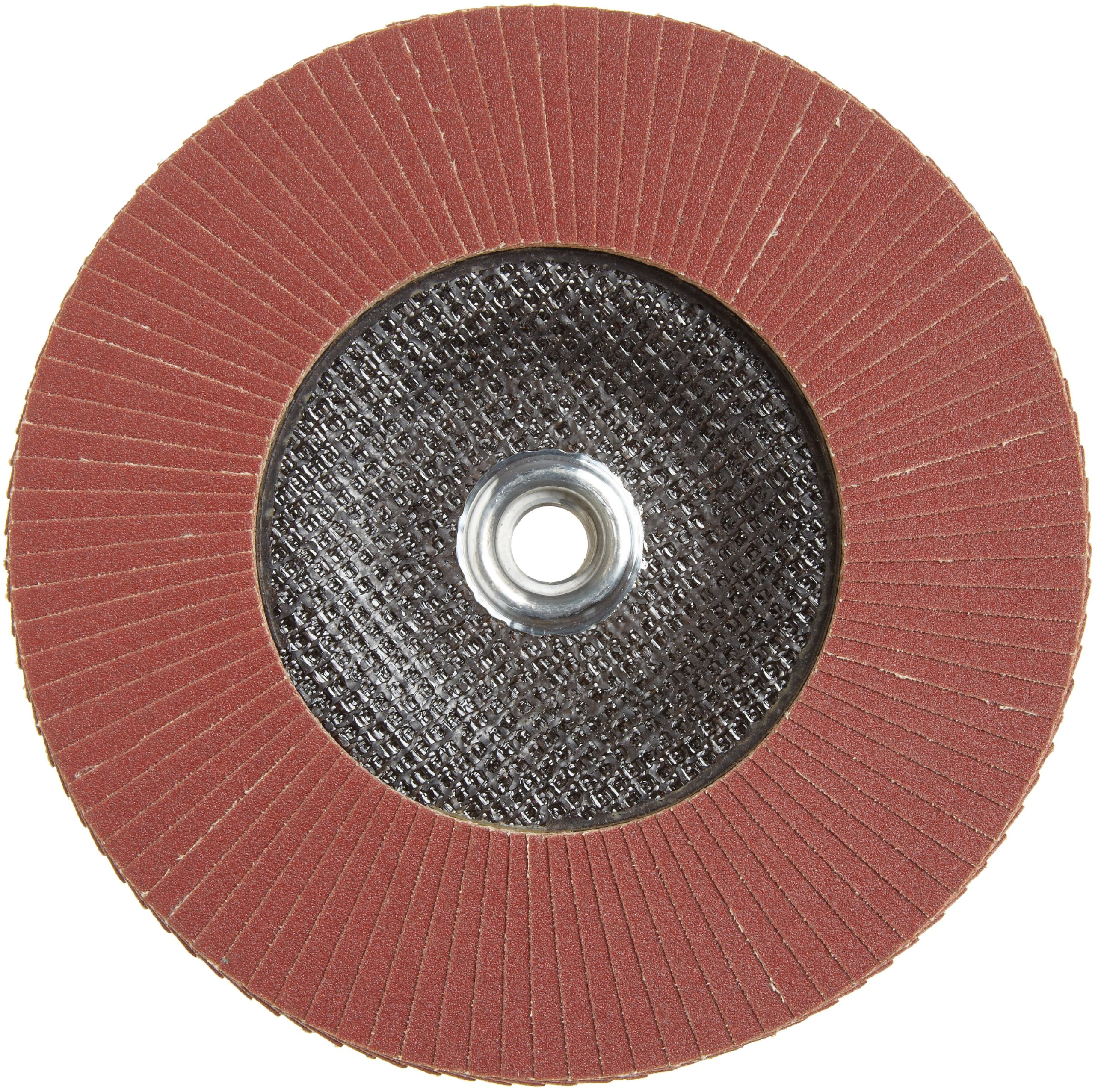 PFERD Polifan SG Abrasive Flap Disc, Type 27, Threaded Hole, Phenolic Resin Backing, Aluminum Oxide, 7'' Dia., 120 Grit (Pack of 1) by Pferd