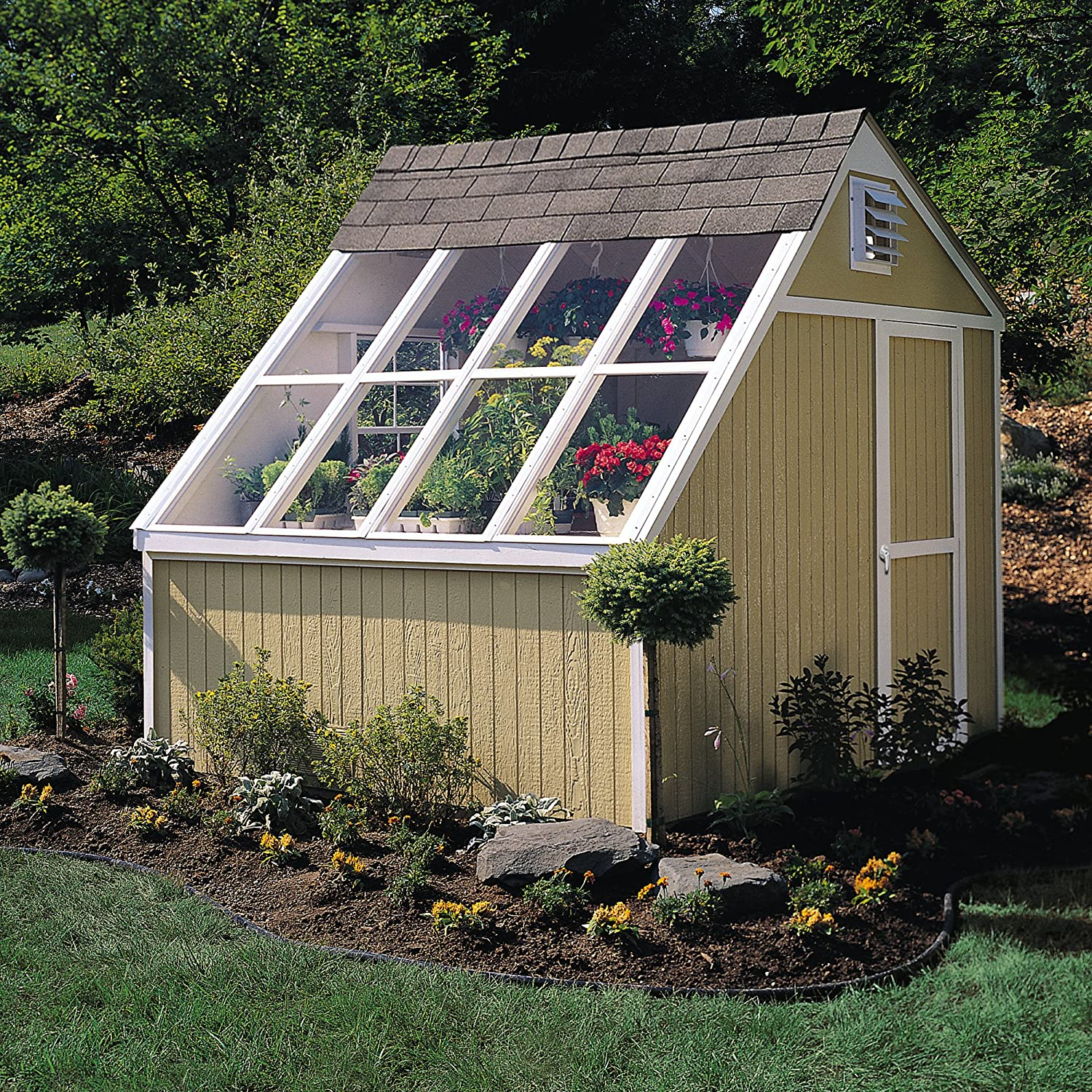 Delicieux Amazon.com : Handy Home Products Phoenix Solar Shed With Floor, 10 By  8 Feet : Storage Sheds : Garden U0026 Outdoor