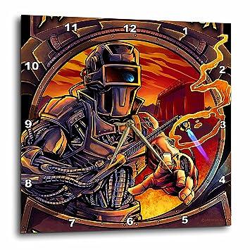 "3dRose Welder That is All Machine Using a Welding Tool Reloj de Pared, 15"""