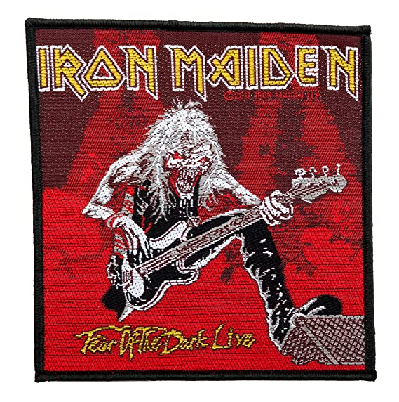 Iron Maiden Fear Of The Dark Live Sew On Clothing Patch Badge Fan 100% Official by Unbekannt: Amazon.es: Ropa y accesorios
