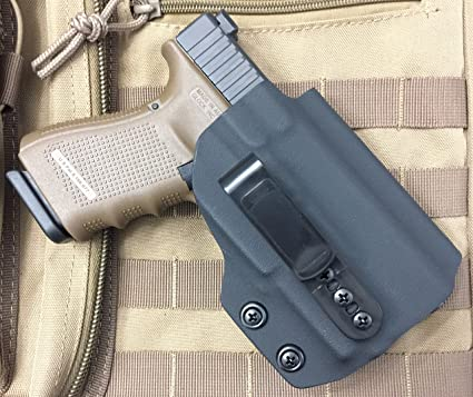 MIE Productions Kydex IWB Holsters for Glock 19 with TLR-1, TLR-3, TLR-7,  TLR-8, APL, APLc, PL-2, PL-Mini