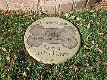 Amazoncom Personalized Pet Memorial Step Stone 11Diameter