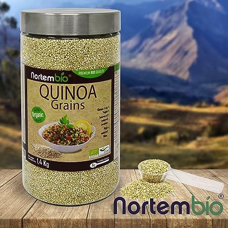 Semillas de Quinoa Natural NortemBio 1,4 kg, Calidad Premium. Excelente Fuente de Proteínas y Vitaminas.: Amazon.es: Salud y cuidado personal
