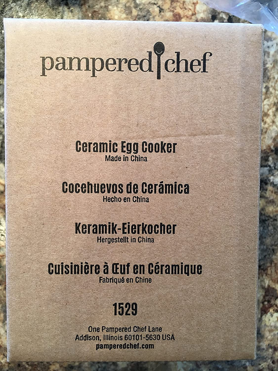 PAMPERED CHEF CERAMIC EGG COOKER #1529
