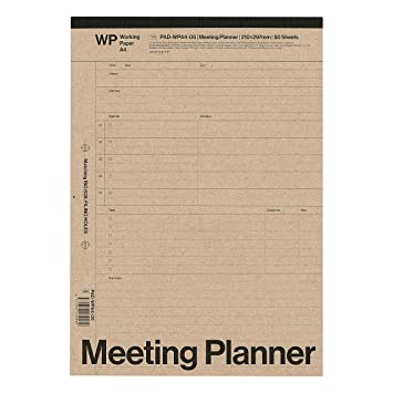 amazon a4 レポートパッド meeting planner ミーティングプランナー