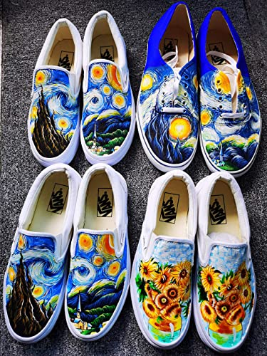 Hand Painted Shoes Vincent van Gogh