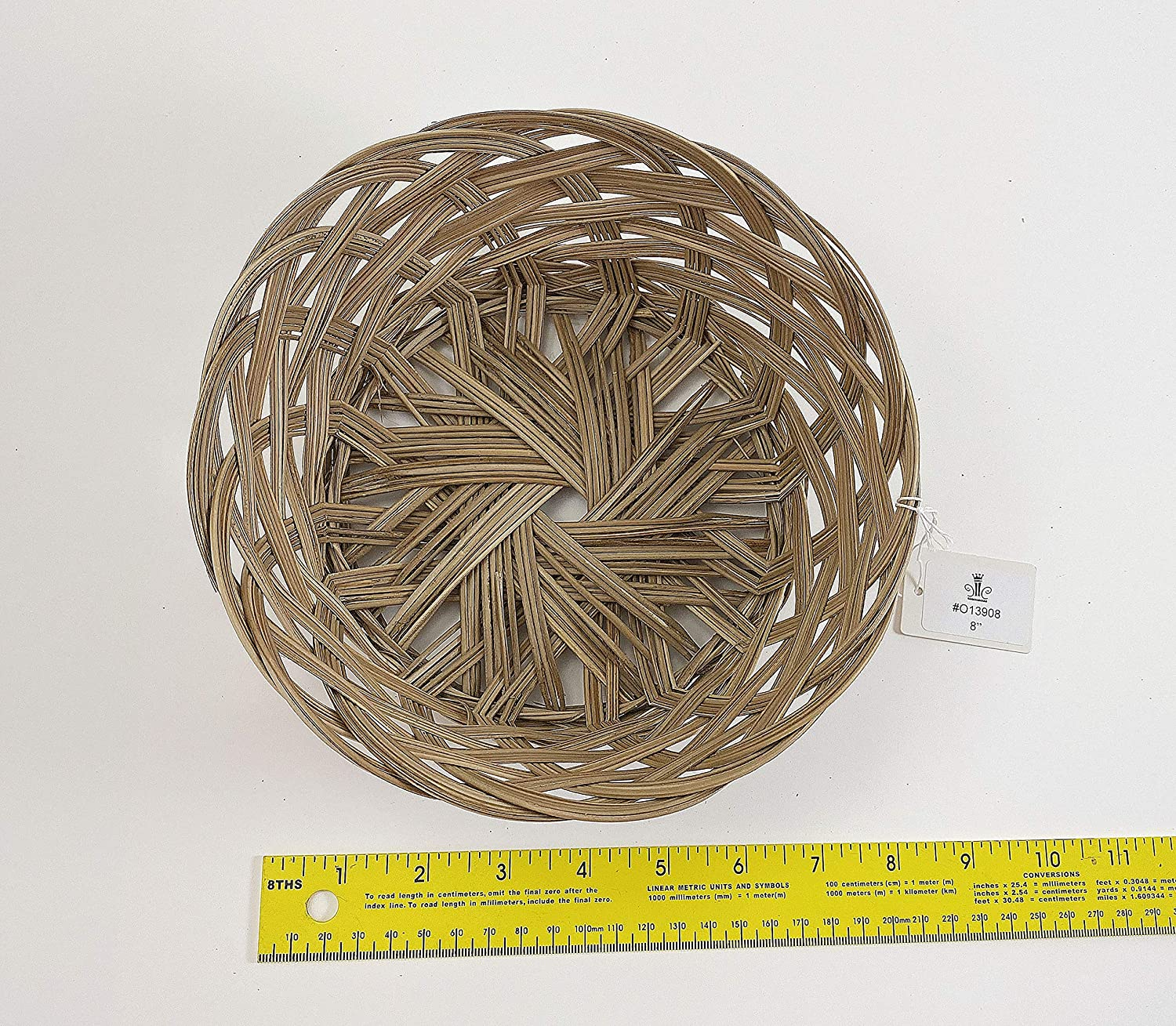 CalCastle Round Gift Baskets, Woven Bread Roll Baskets, Food Serving Baskets, Natural Coco Midrib Material (8