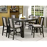 Furniture Of America Basson Rustic 7 Piece Grey Counter Height Dining Set