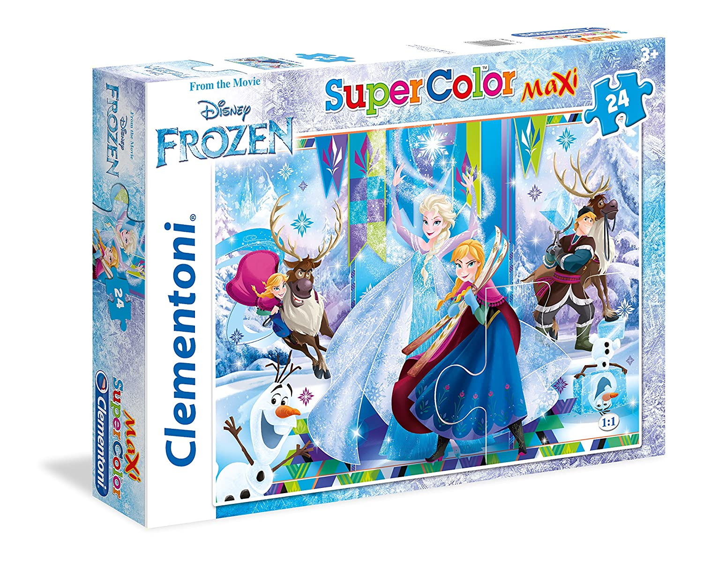 Clementoni - 24496 - Supercolor Puzzle - Frozen- 24Pièces - Disney