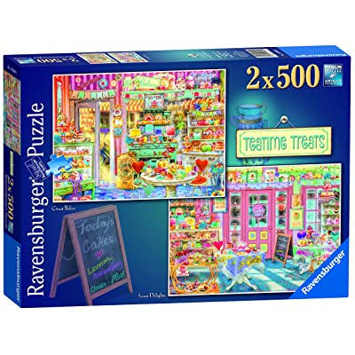 Ravensburger Teatime Treats 2X 500pc Jigsaw Puzzle: Toys & Games