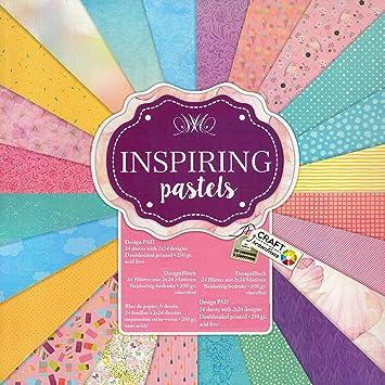 Bastelpapier Vintage scrapbooking papier vintage motivblock 32 inspiring pastels