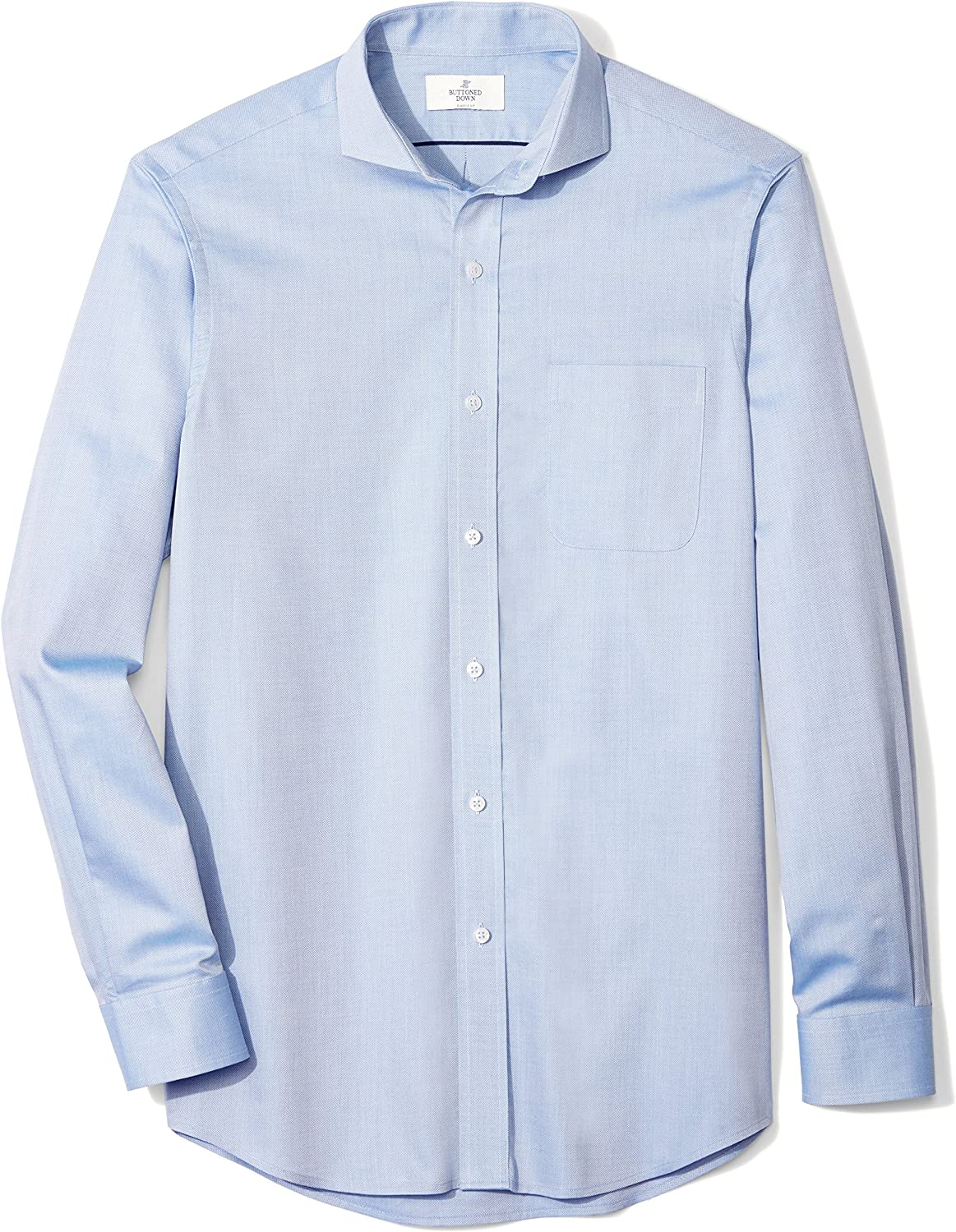 Brand - BUTTONED DOWN Men's Classic Fit Cutaway-Collar Supima Cotton Dress Casual Shirt: Clothing