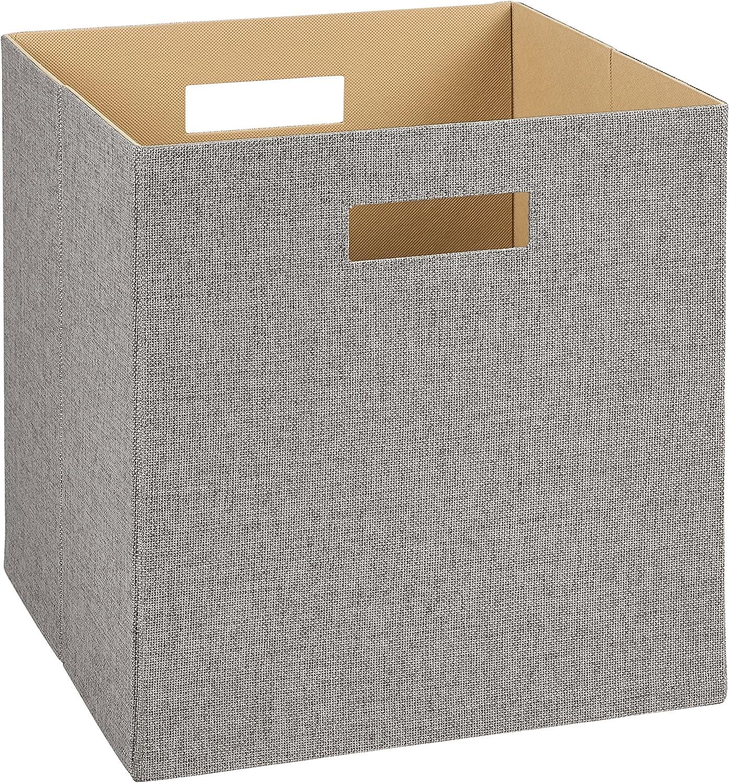 Amazon Com Closetmaid 7116 Decorative Fabric Storage Bin Gray
