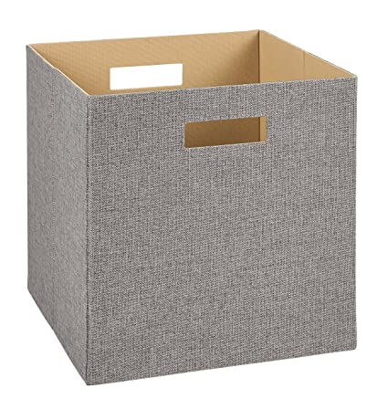30c0aca248ee ClosetMaid 7116 Decorative Fabric Storage Bin, Gray