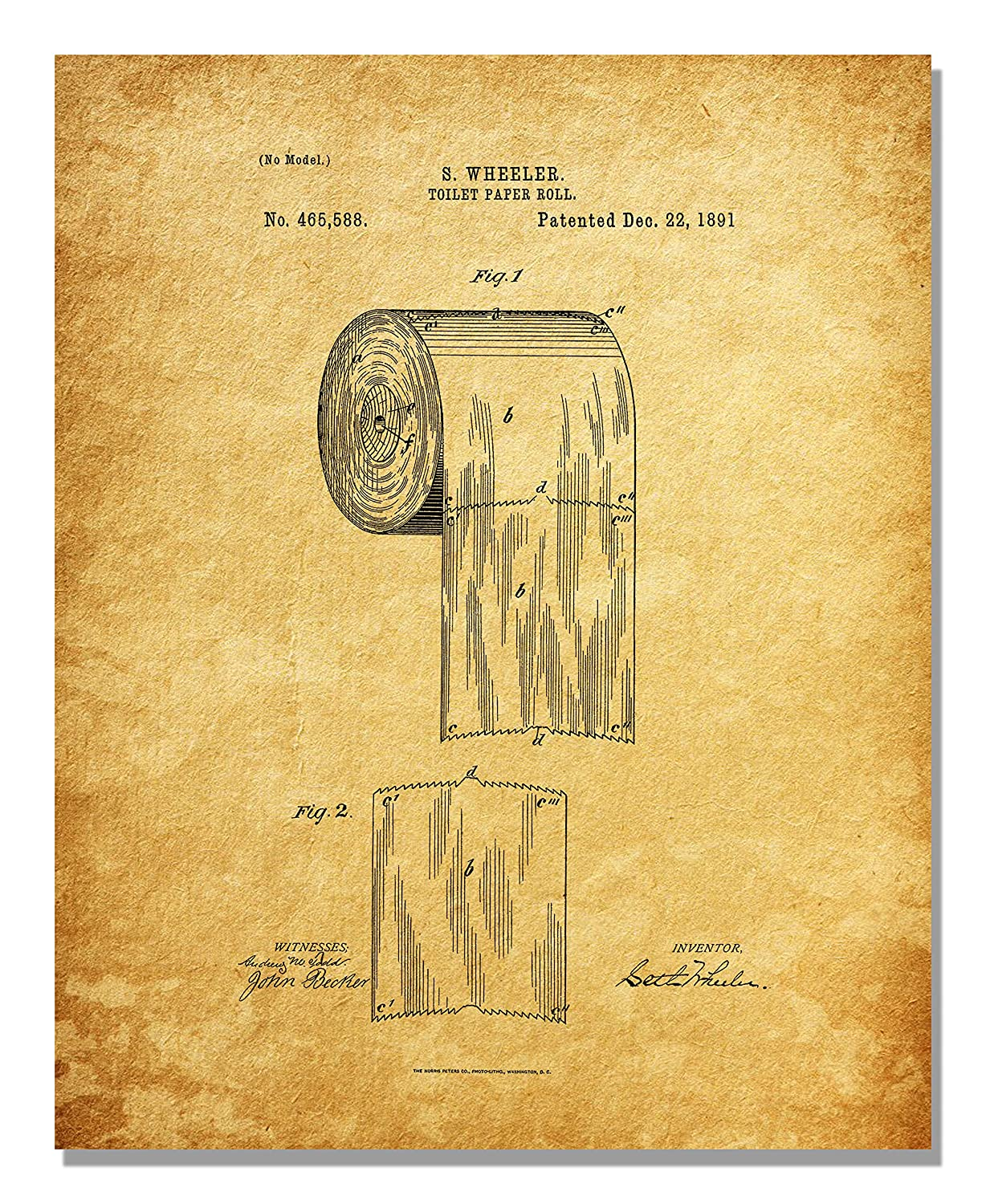 Amazon.com: Bathroom Patent Prints - Wall Art - Set of Six Photos ...