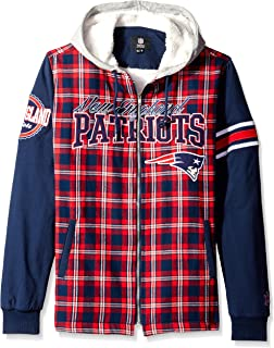 bdc9cd8e Amazon.com : NFL Flannel Hooded Jacket : Clothing