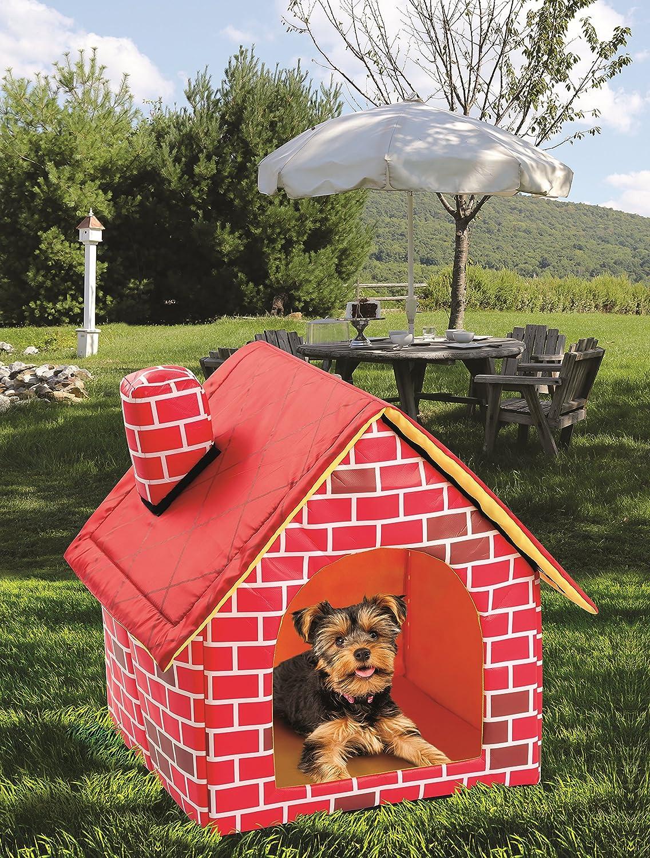 ETNA Portátil ladrillo - Caseta de Perro Cálido y Acogedor Interior/Exterior, Ideal para Perros, Gatos, Gatitos, Cachorros y Conejos: Amazon.es: Productos ...