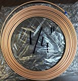 "1/4 in "" OD x 50 ft Copper Soft Roll / Tubing / Tube / Pipe Refrigeration ACR Type"