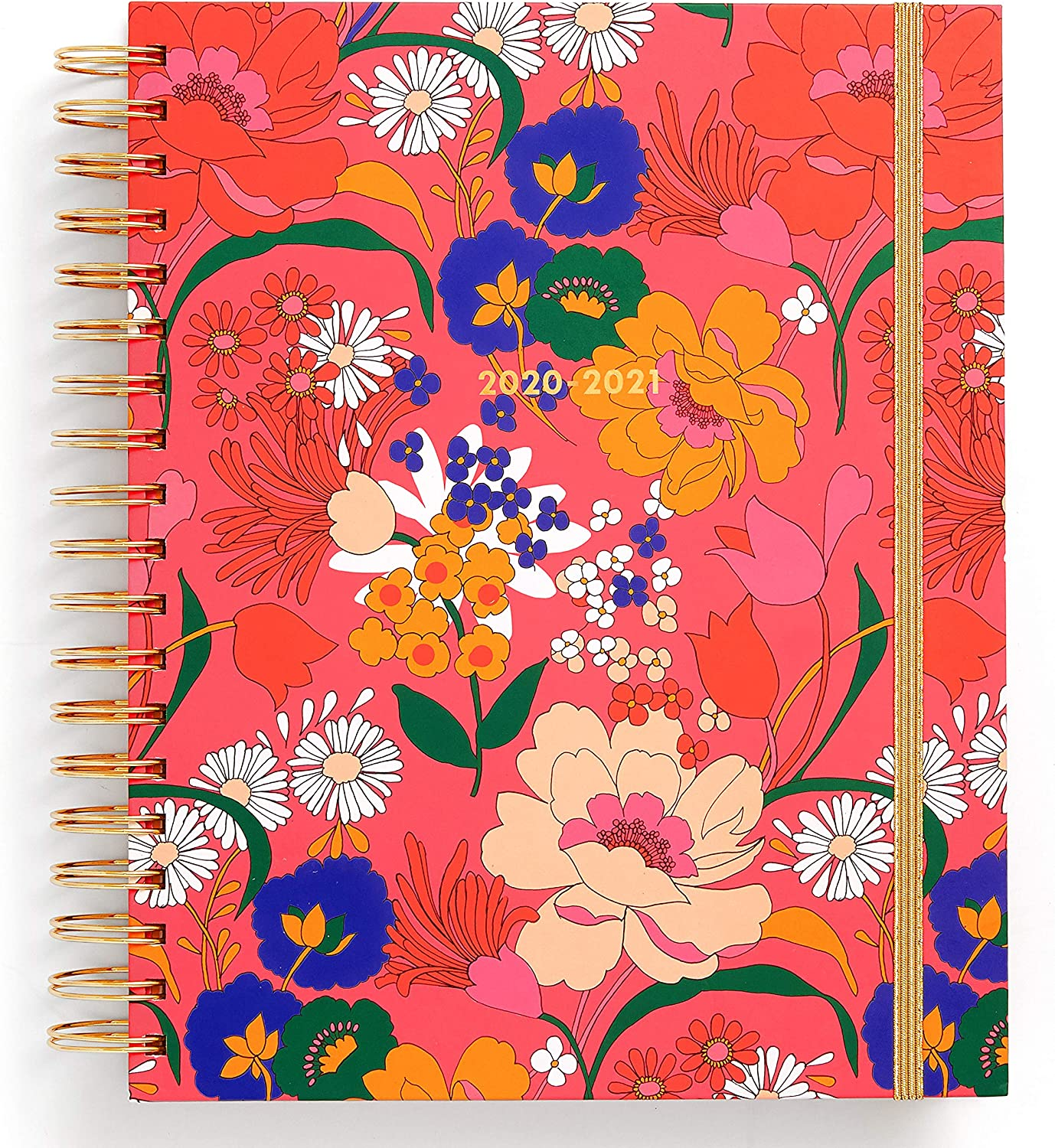 Ban.do 17 Month 2020-2021 Large Daily Planner with Weekly & Monthly Views, Dated August 2020 - December 2021, Hardcover Self-Care Planner with Stickers, Goal/Reflection Pages, Cool Art, Superbloom