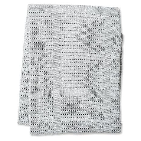 Lulujo 121 - 010 - 004 - Manta de punto de algodón 100 x 80 ...