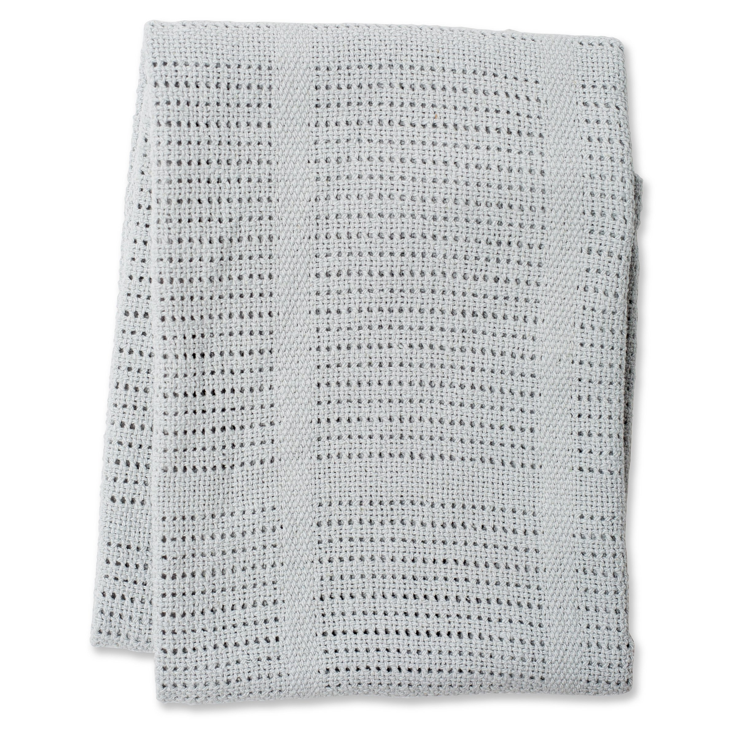 Lulujo Cellular Blankets, Grey product image