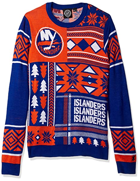 Image Unavailable. Image not available for. Color  New York Islanders  Patches Ugly Crew Neck Sweater Double Extra Large adb604c1a