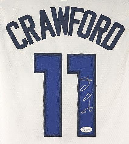 4ad1f521 Jamal Crawford Minnesota Timberwolves Signed Autographed White #11 Jersey  JSA COA