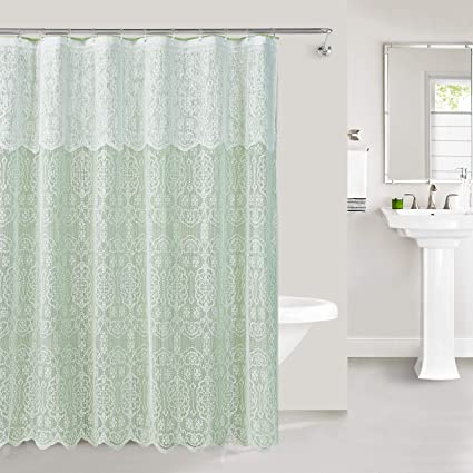 Madison Home LAC-SC-WH Shower Curtain White