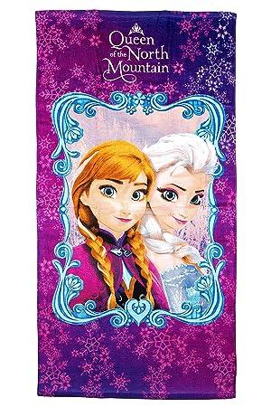 Disney Frozen toalla de playa/toalla Queen of the North Mountain, 70 x