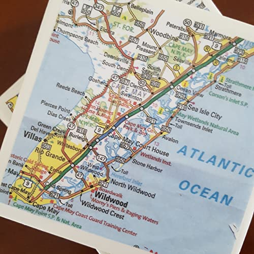 Amazon com: New Jersey Map Coasters, Set of 4, Great Gift